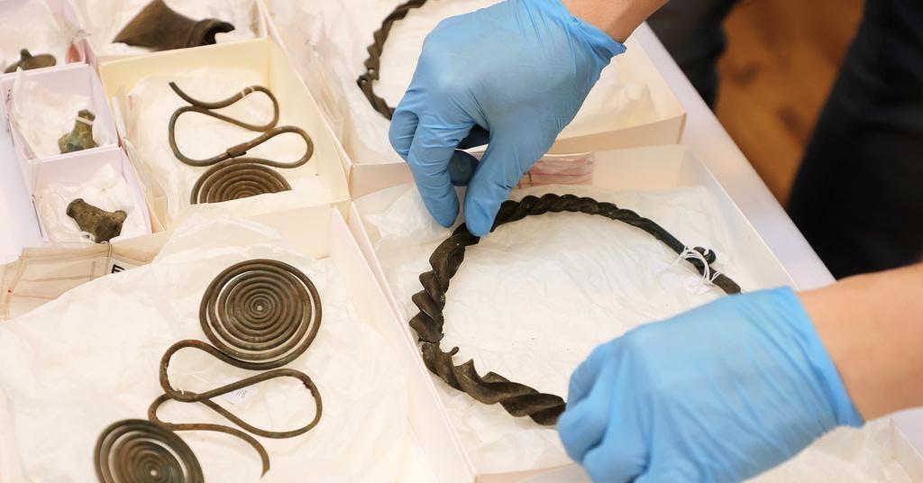 Unikt bronsåldersfynd visade kvinnas status