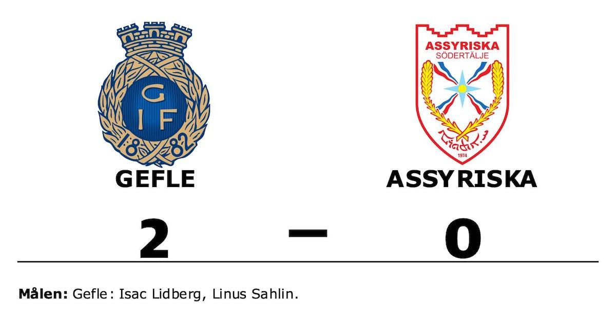 Isac Lidberg och Linus Sahlin matchvinnare när Gefle vann