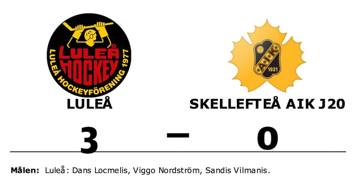 Skellefteå AIK J20 förlorade borta mot Luleå