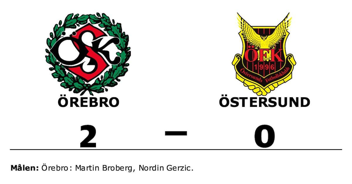 Östersund föll mot Örebro på bortaplan