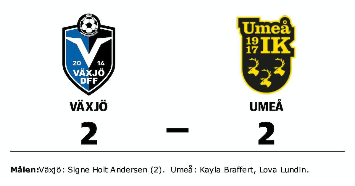 Växjö och Umeå kryssade efter svängig match