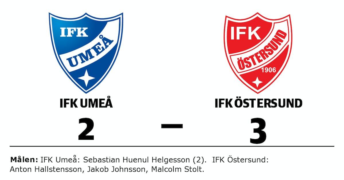 IFK Umeå förlorade mot IFK Östersund