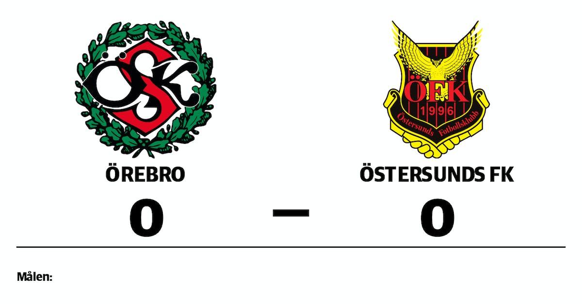 Mållöst när Örebro tog emot Östersunds FK