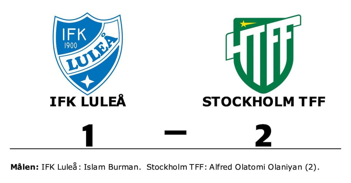 Första segern för säsongen för Stockholm TFF
