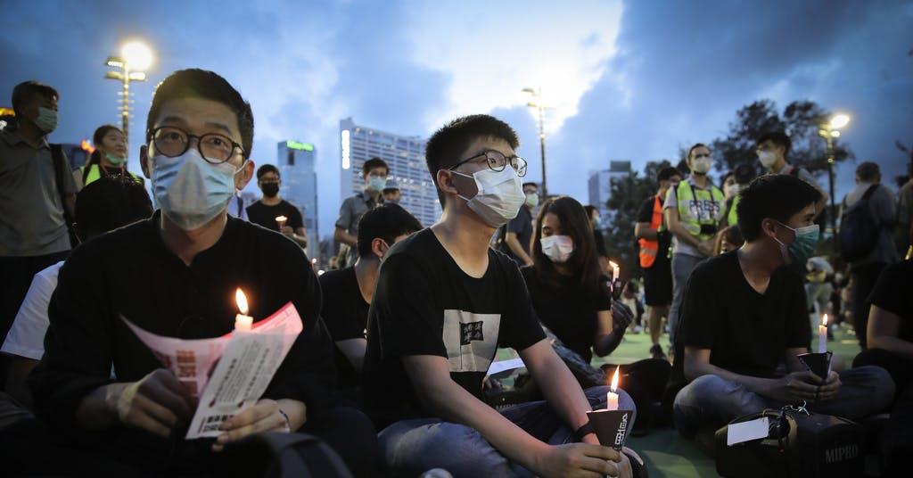 Hongkong: Anklagas för otillåten manifestation
