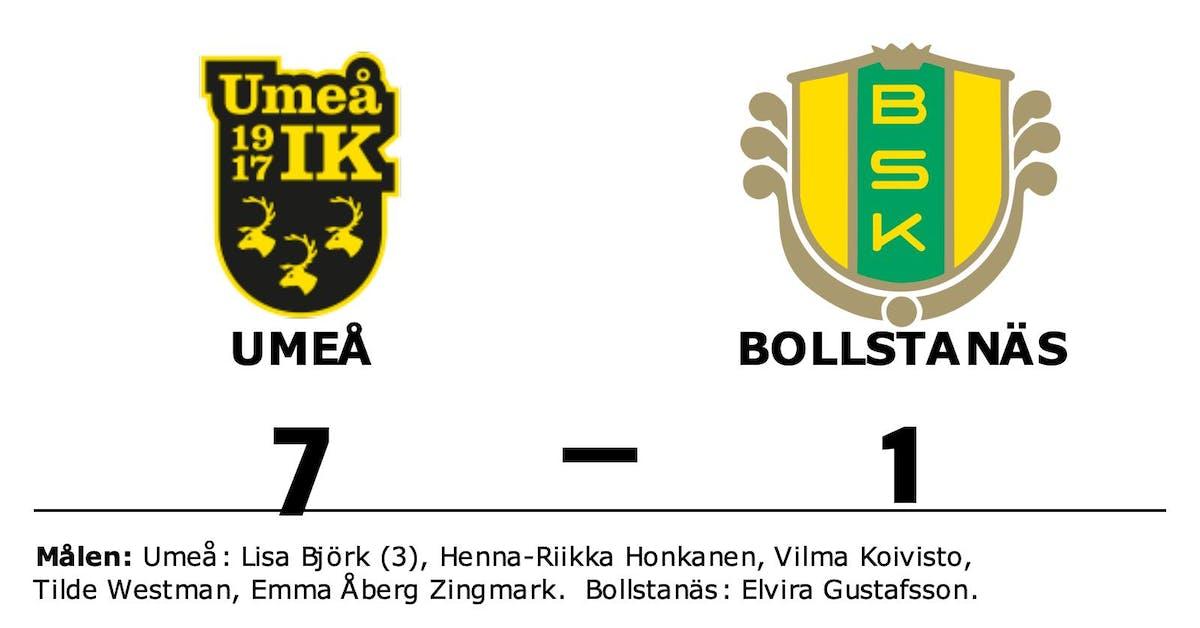 Umeå vann enkelt hemma mot Bollstanäs