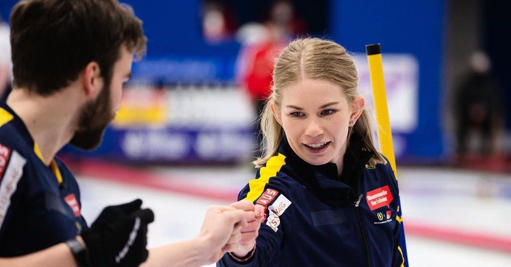 Sverige OS-klart i mixade curlingen