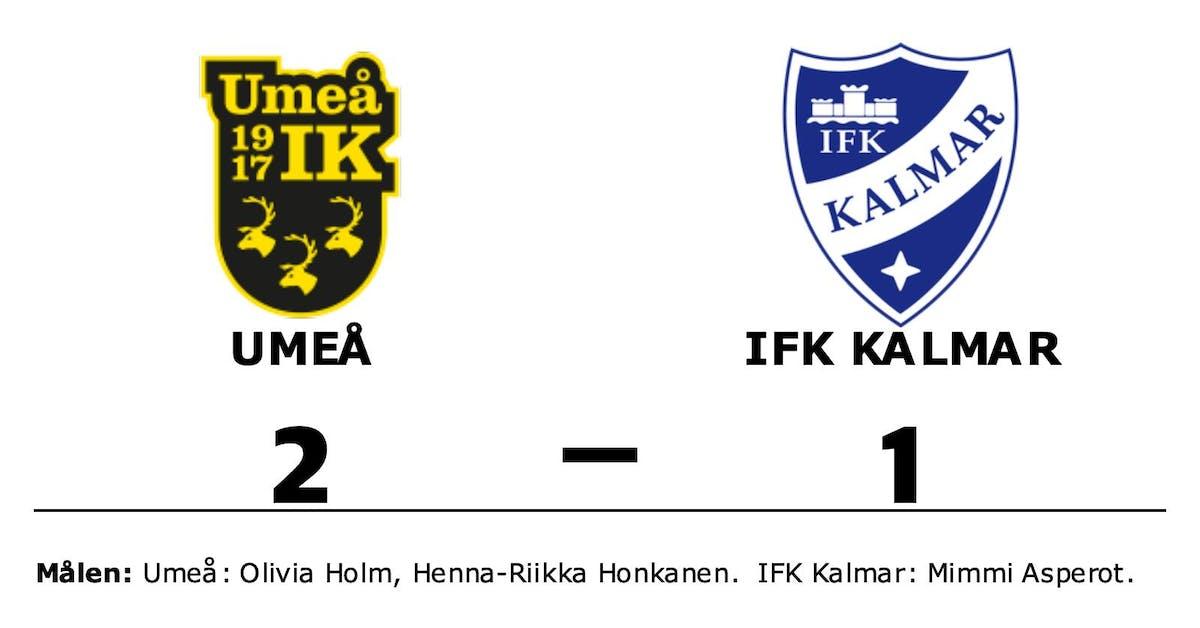 Umeå vann trots uppryckning av IFK Kalmar