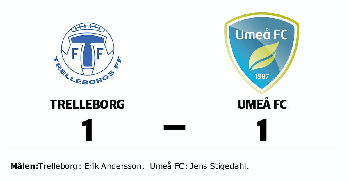 Delad pott när Umeå FC gästade Trelleborg