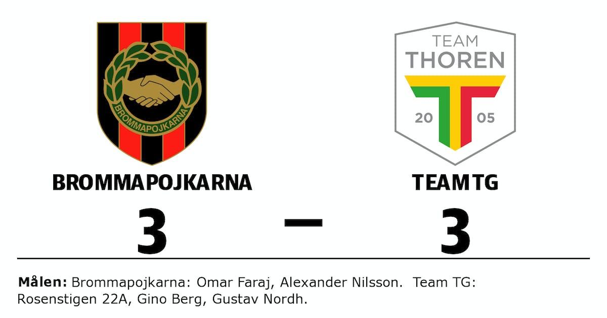 Team TG tappade ledning till oavgjort mot Brommapojkarna