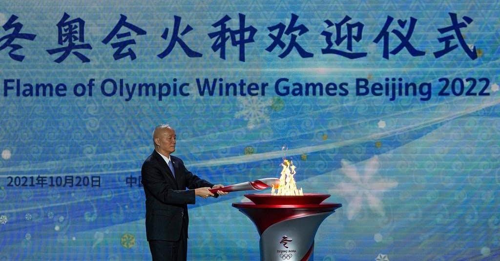 OS-facklan har landat i Peking
