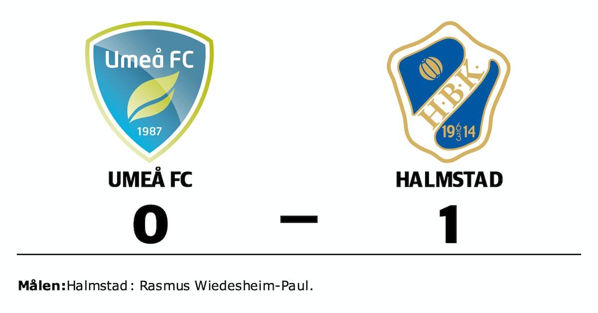 Uddamålsförlust för Umeå FC mot Halmstad