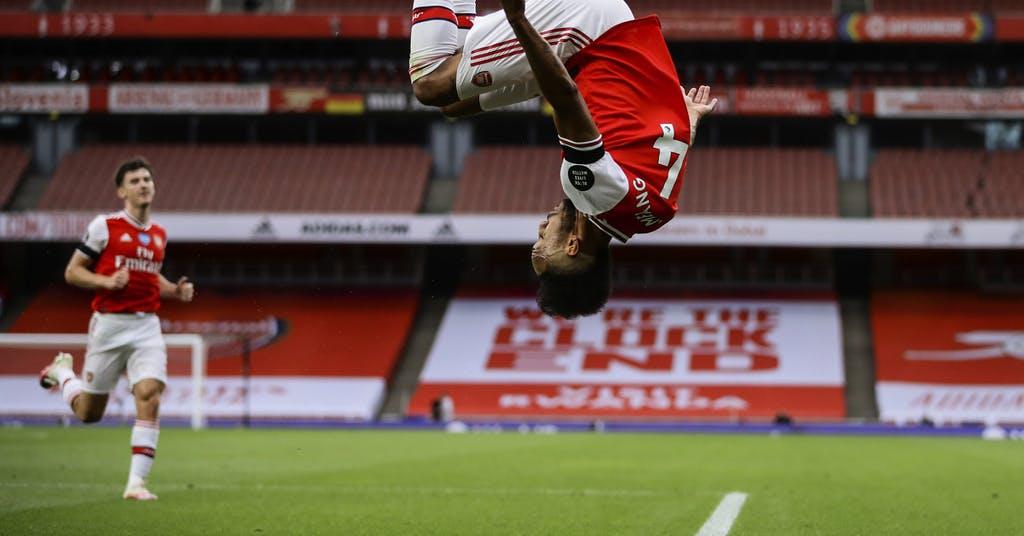Aubameyang bröt måltorka i Arsenals kross