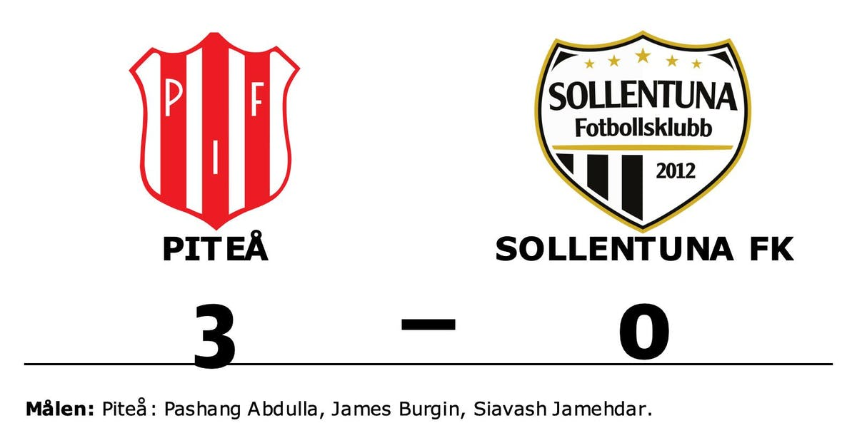 Piteå segrade mot Sollentuna FK på hemmaplan