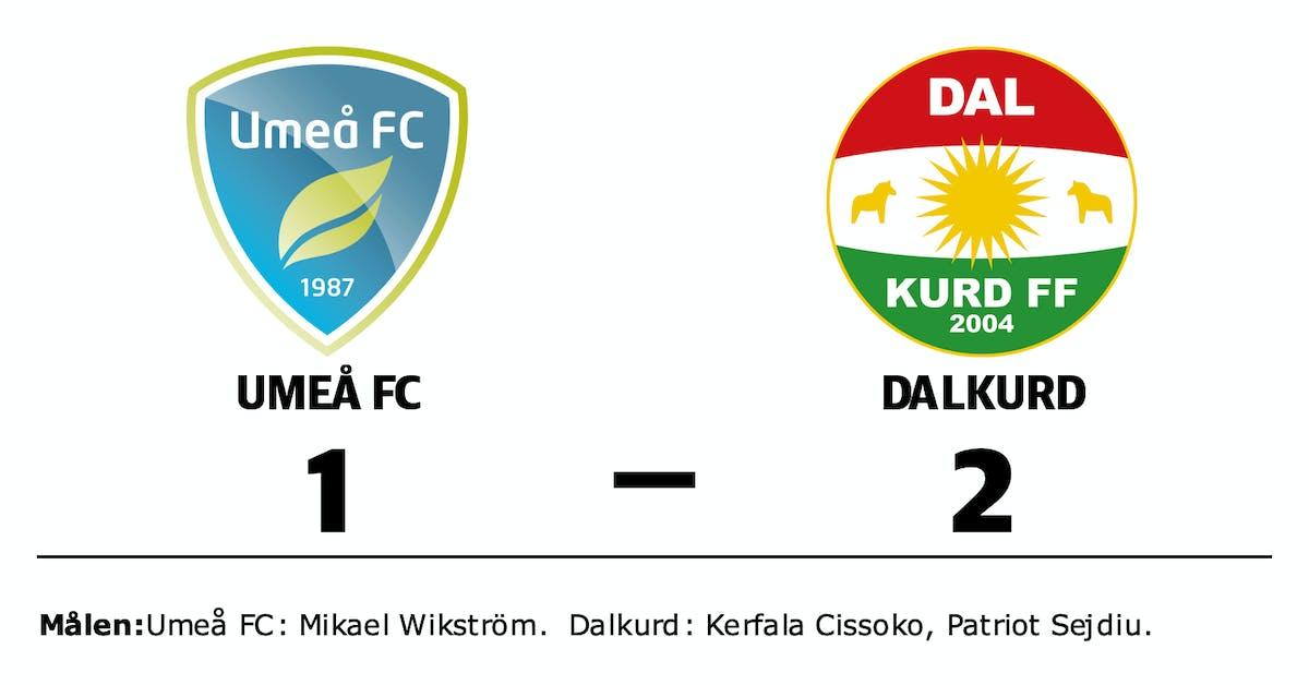 Umeå FC förlorade mot Dalkurd