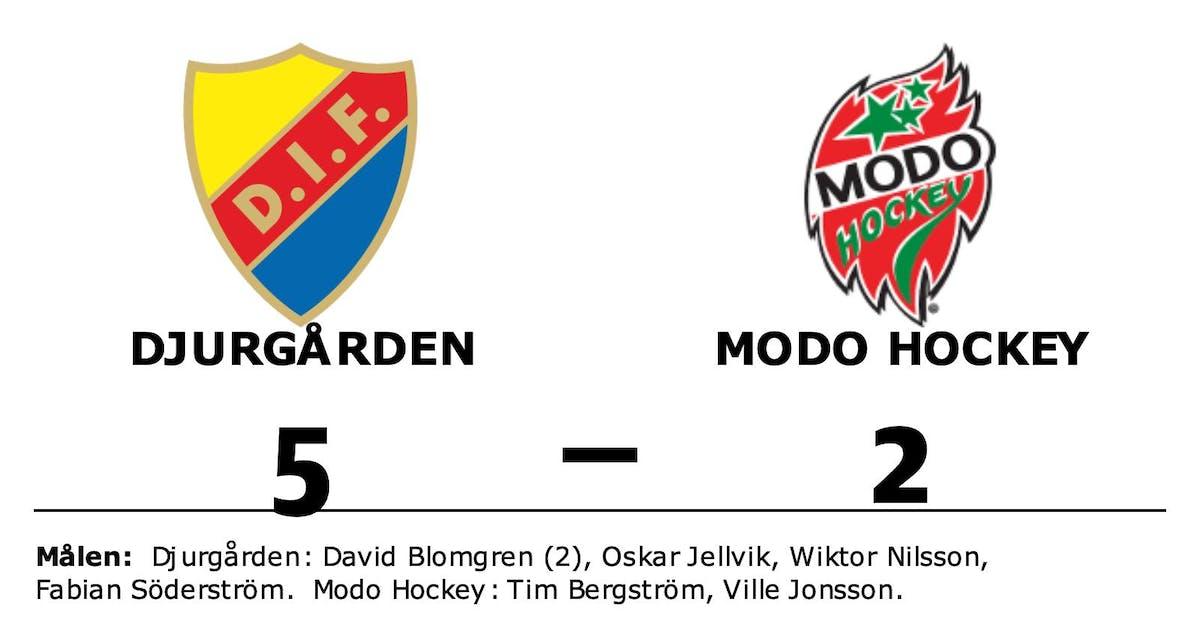 Ryck i sista perioden avgjorde för Djurgården hemma mot Modo Hockey