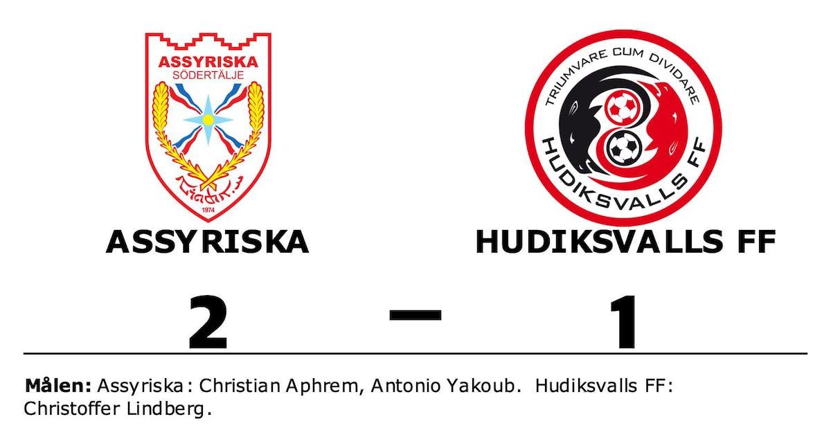 Seger för Assyriska mot Hudiksvalls FF efter sent avgörande