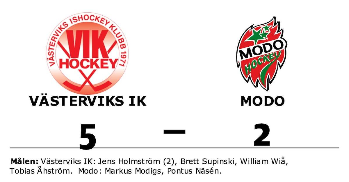 Jens Holmström gjorde två mål när Västerviks IK vann