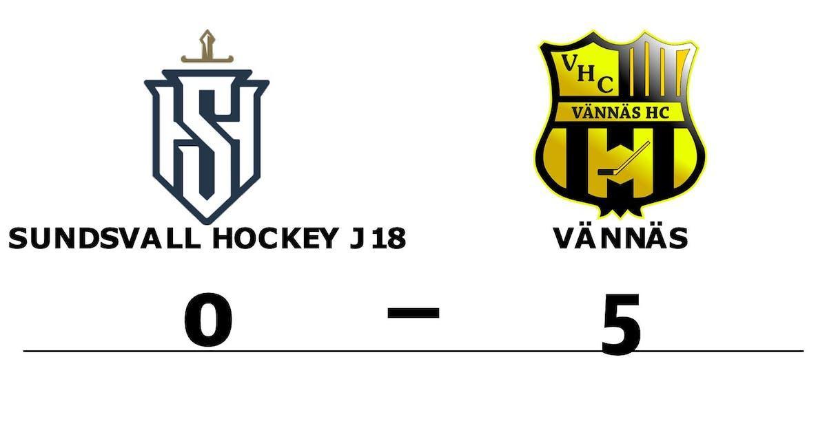 Sundsvall Hockey J18 kunde inte stoppa formstarka Vännäs
